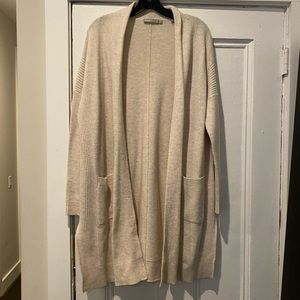Vince Beige Wool Cashmere Cardigan - Small